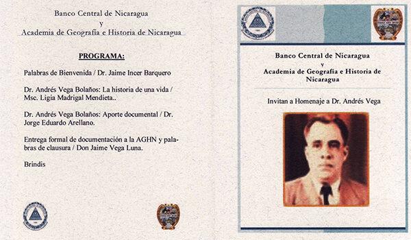 Homenaje al Dr. Andrés Vega Bolaños «Padre de la Documentación»
