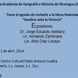 Mesa Redonda: Sandino en la Historia.