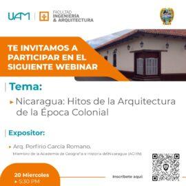 CONFERENCIA: «NICARAGUA: HITOS DE LA ARQUITECTURA DE LA ÉPOCA COLONIAL»
