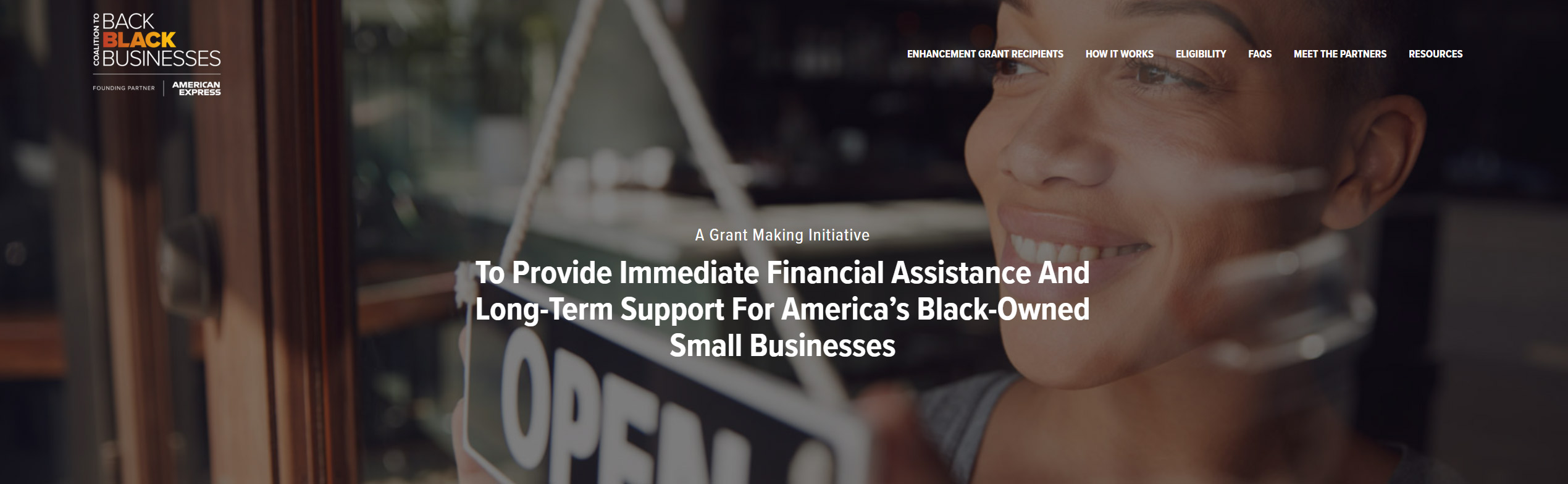 The American Express Coalition to Back Black Businesses Grant is open!!!