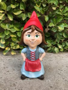 Twig and Flower Ava the Little Brown Haired Gnome Front Porch