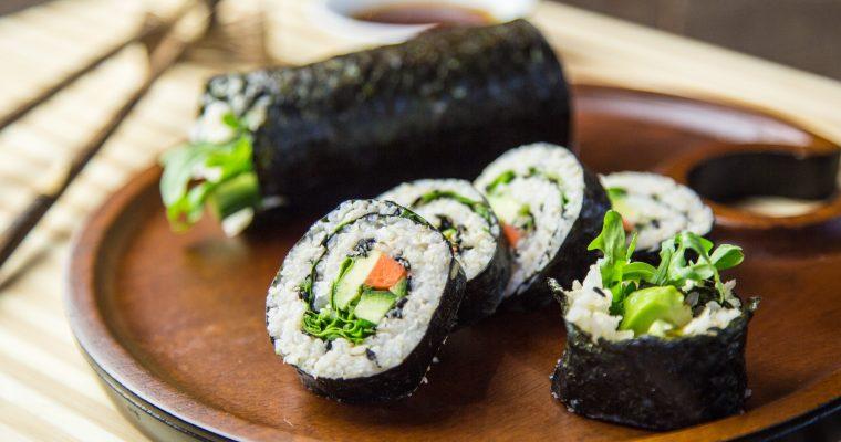 Healthy Vegetable Nori Rolls