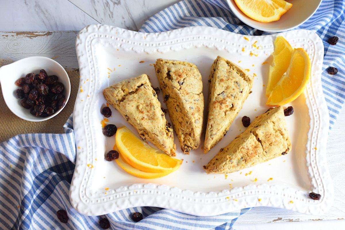Gluten Free Orange, Cranberry Scones