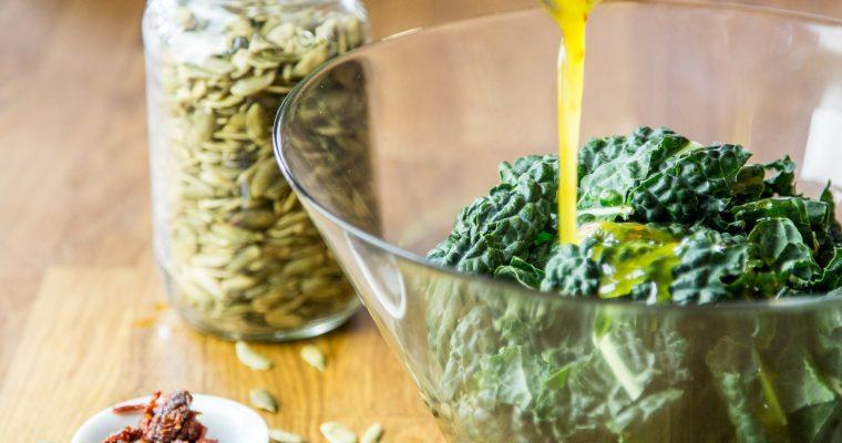 Marinated Kale Salad Recipe | Anti Candida