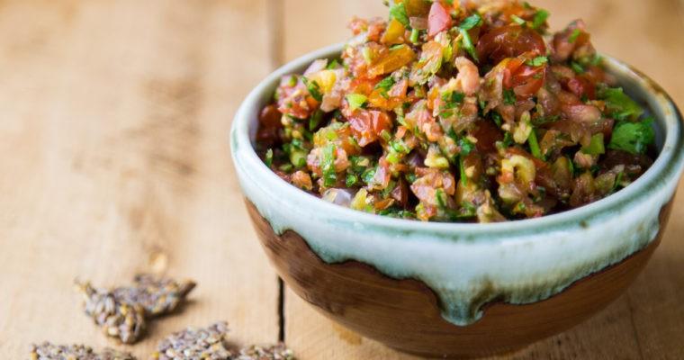 Fresh and healthy homemade salsa