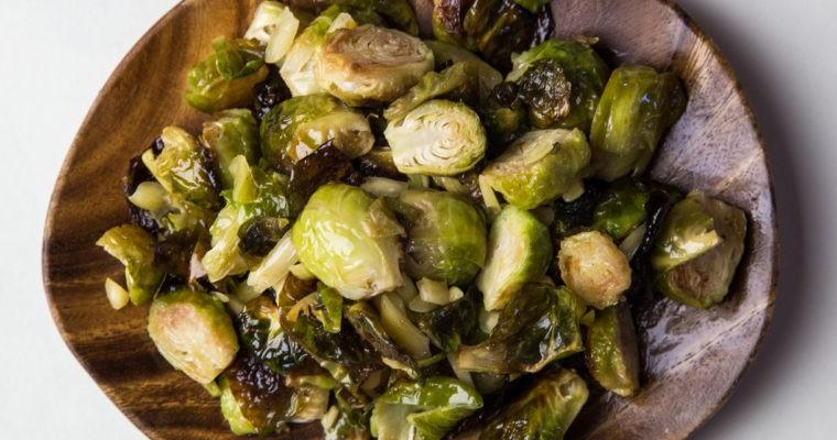 Easy Vegan Macadamia Nut Brussels Sprouts