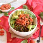 healthy vegan black bean bowl