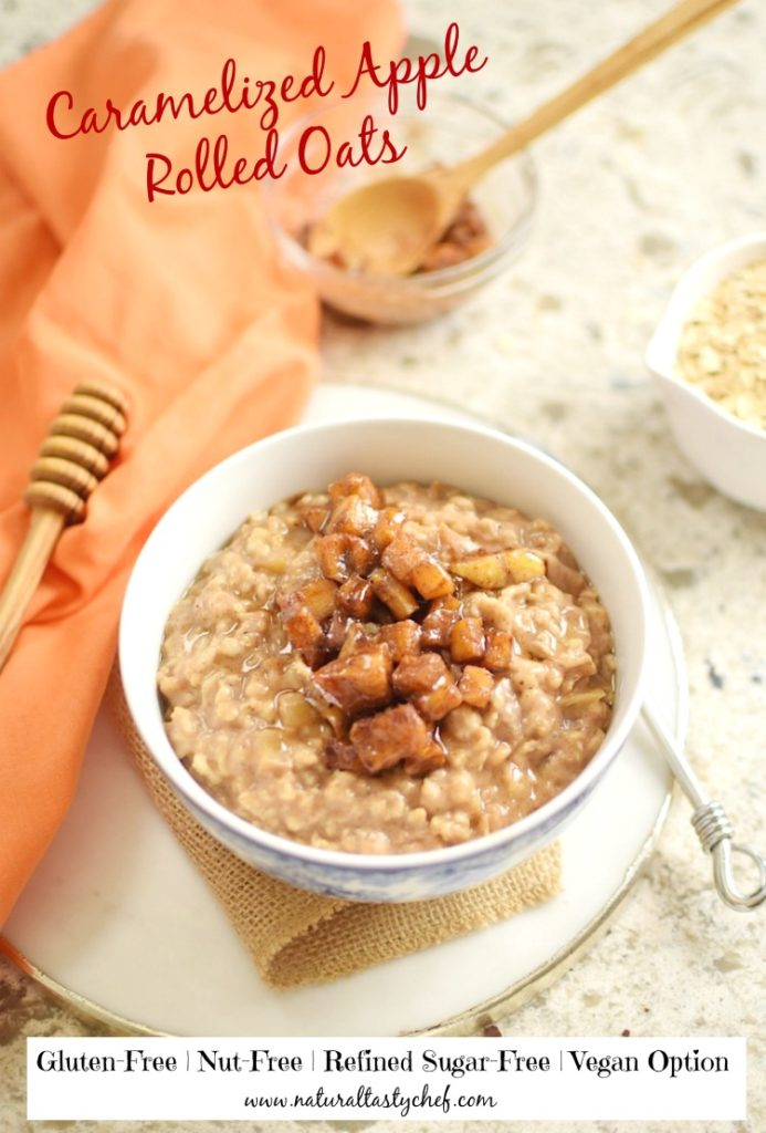 caramelized apple rolled oats