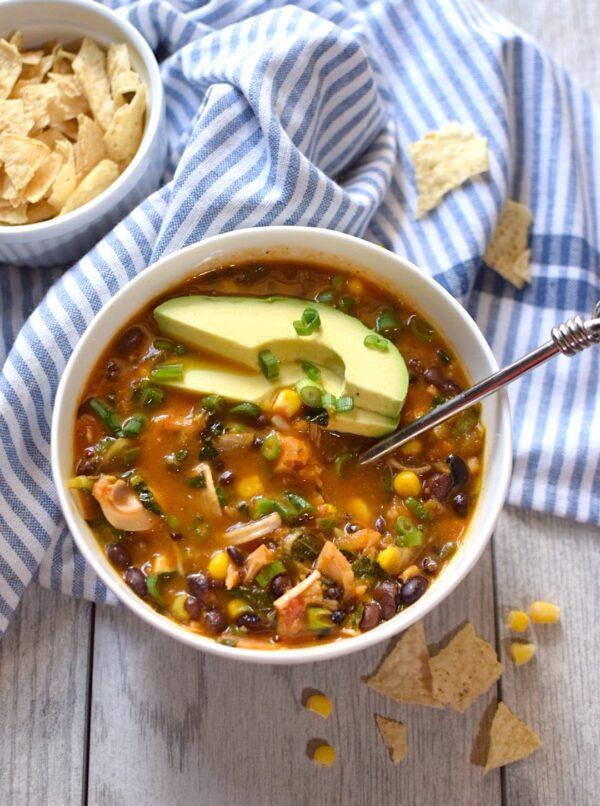 healthy vegan tortilla soup