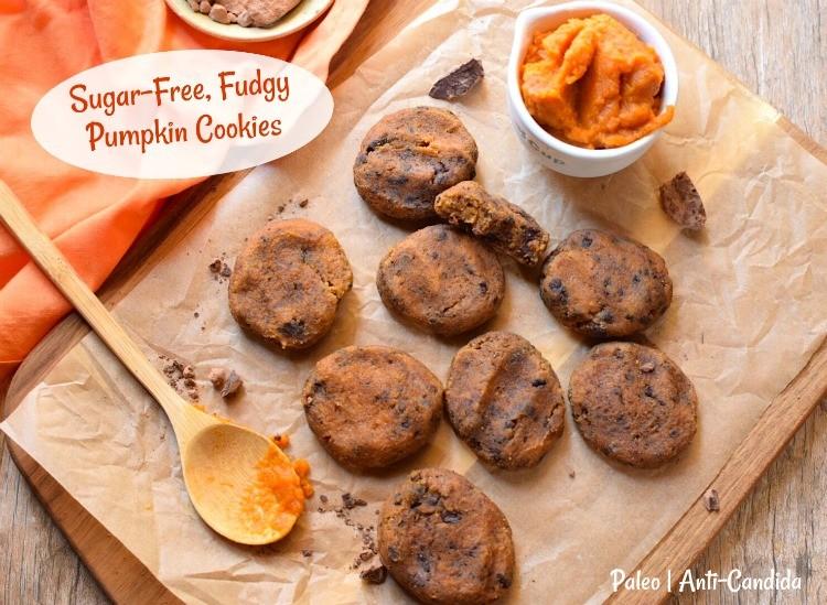 sugar free fudgy pumpkin cookies