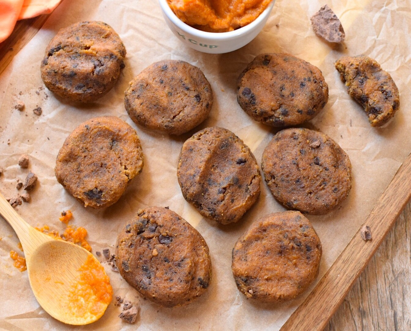 Sugar-free, candida diet pumpkin cookies