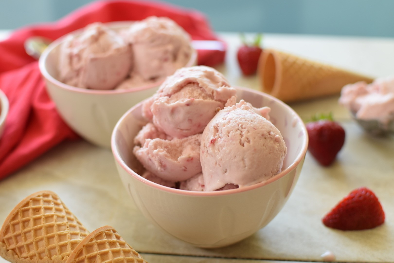 Strawberry Ice Cream for a Candida Diet