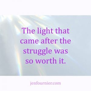 Retreat Reflection: New Found Light After The Struggle by Jen Fournier