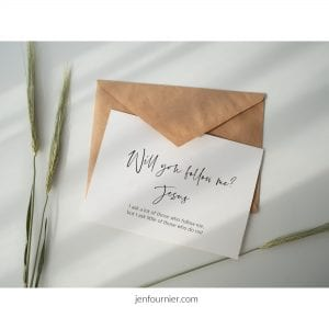 Saying Yes to Jesus' Invitation Isn't Easy by Jen Fournier