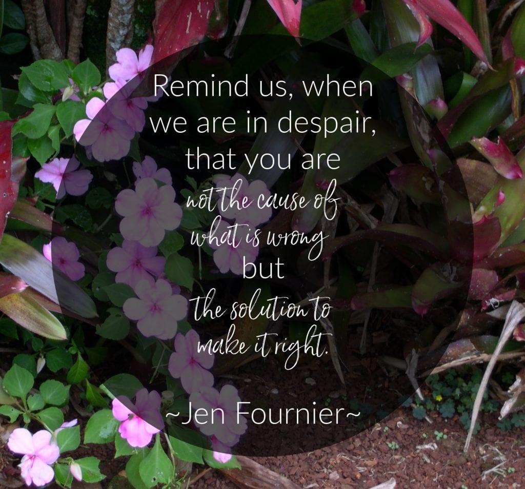 A Prayer for Friends by Jen Fournier