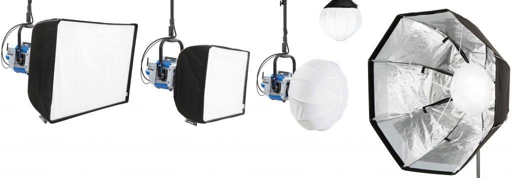 Array of DoPchoice light control tools for ARRI Orbiter include: Lightbank, Octa 4 & Dome Snapbag®