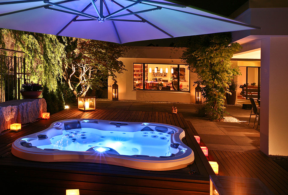 Dimension One Spa at Night