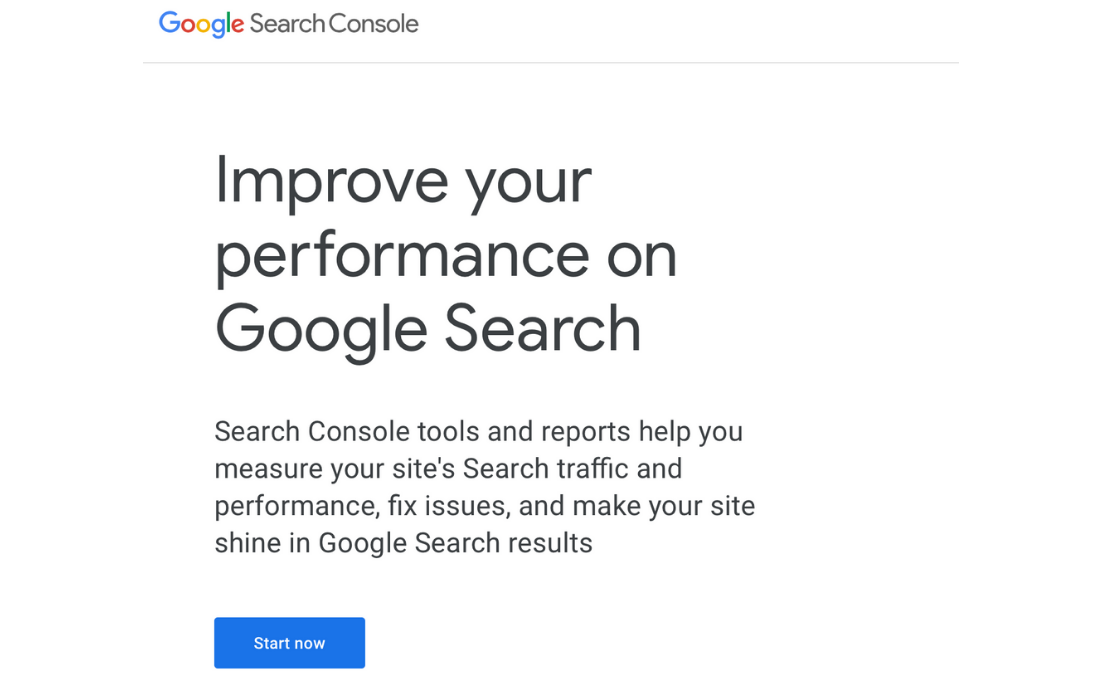 Go to the Google Search Console Website