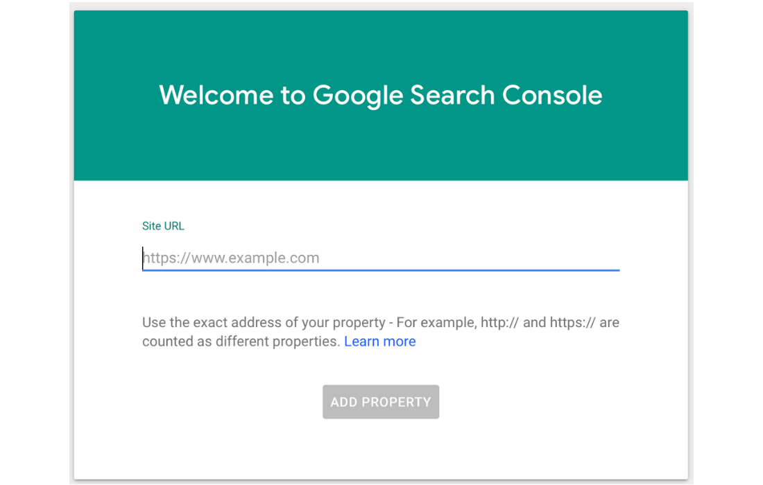 Add the url of your website to Google Search Console