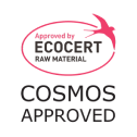 Approved by ECOCERT raw material. Cosmos Approved