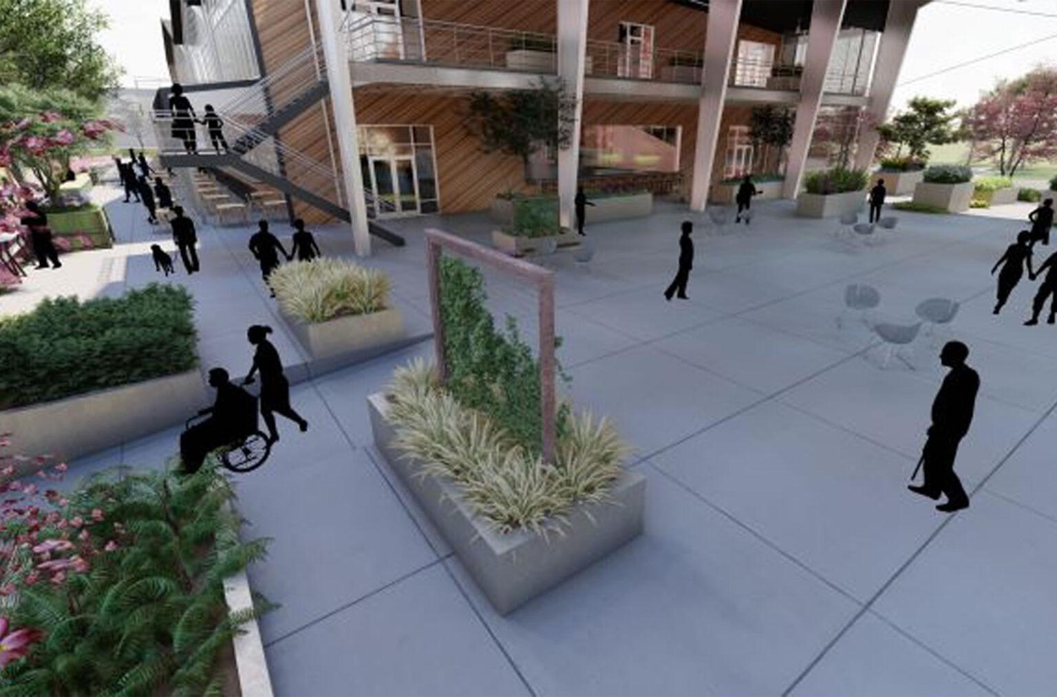 outdoor plaza design georgia