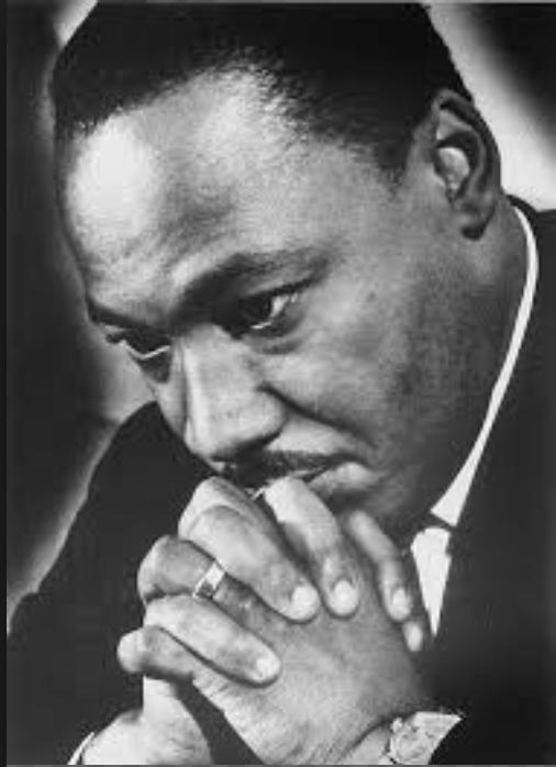 MLK pensive