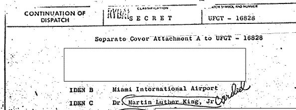 King CIA file