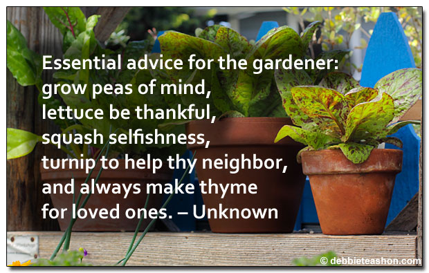 Edible advice