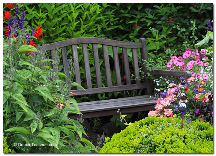 Hidden garden bench
