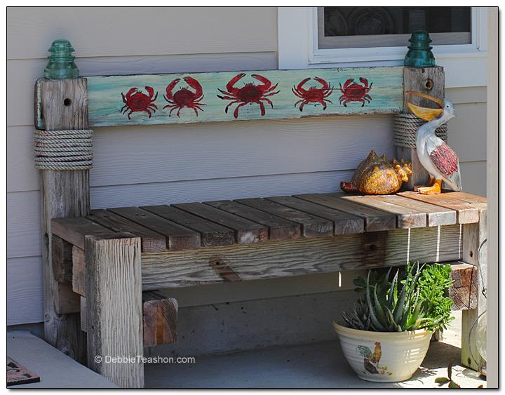 Artistic garden bench