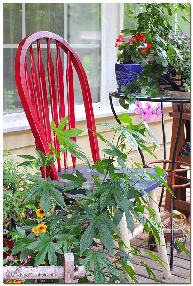 Red Windsor chair