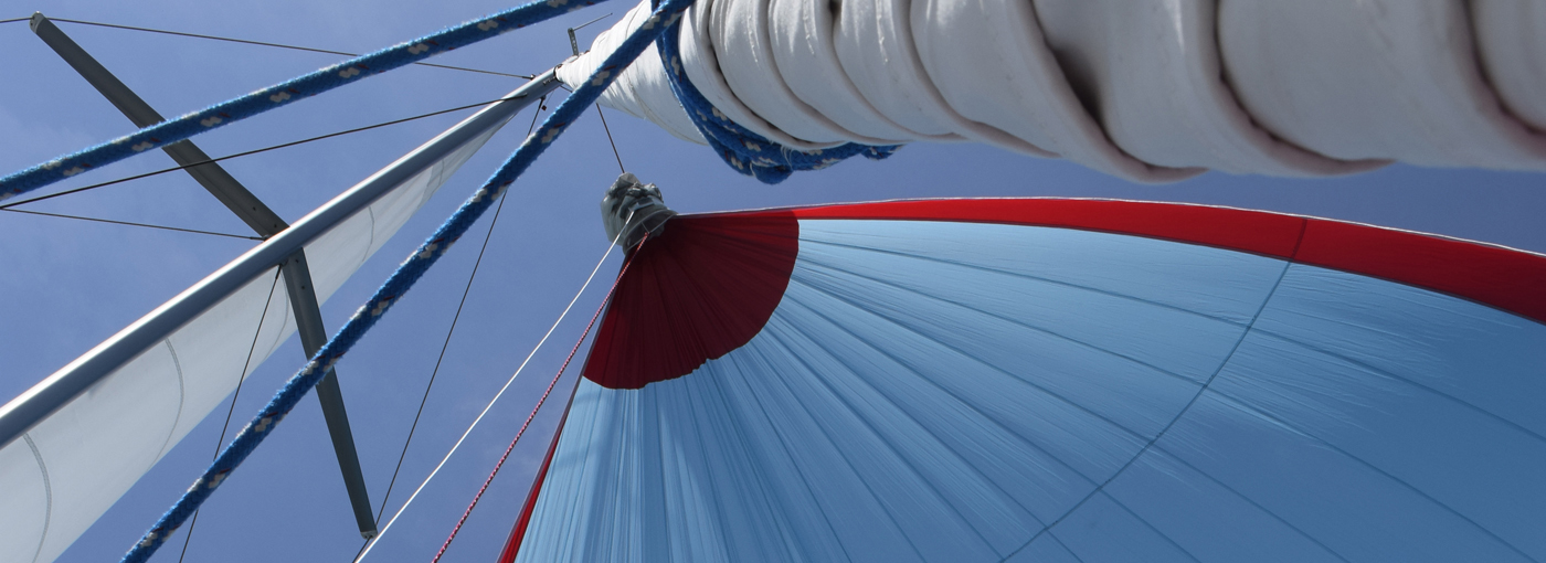 Spinnaker in sailing charter