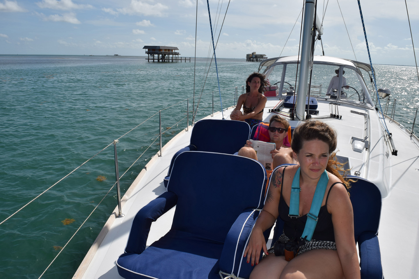 HISTORIC STILTSVILLE HOUSES IN THE SHALLOW WATERS OF BISCAYNE BAY