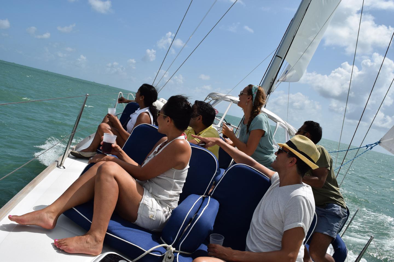 Group Enjoying a Sailing Charter