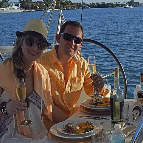 Sailing sunset dinner