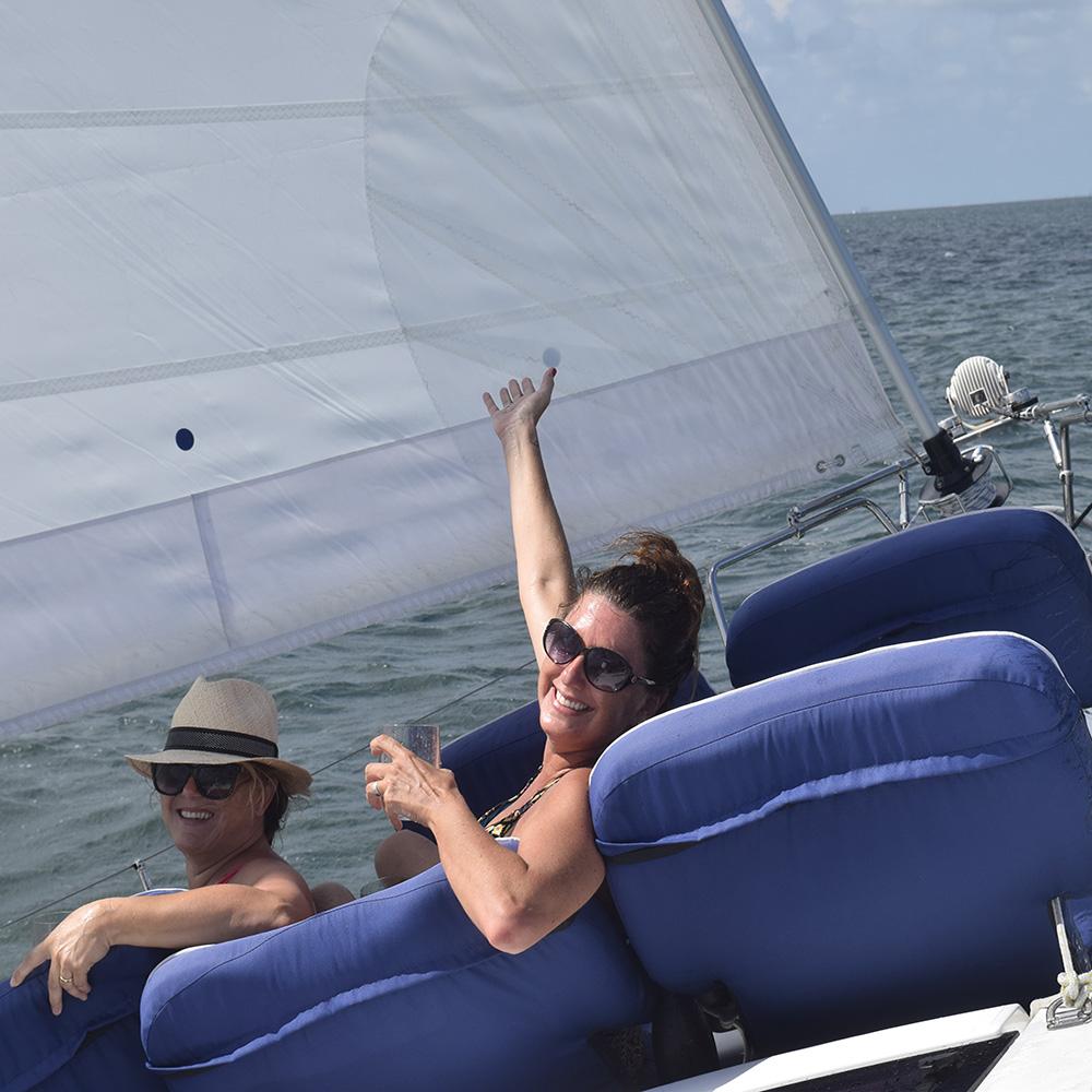 Ladies enjoying a sailing trip
