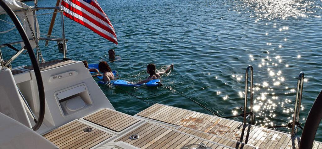 Swimming at Miami Biscayne Bay