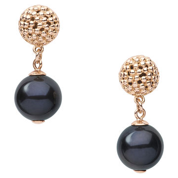 Effervescence Black Pearl Drop Earrings (£690.00).  Night or day, the sumptuous combination of a soft, rounded 18ct bubble cluster stud and handpicked freshwater pearl drop make these Effervescence Black Pearl Drop Earrings a mark of true sophistication. Catching the light, the modern and classic coalesce effortlessly, offering unrivalled richness and depth.