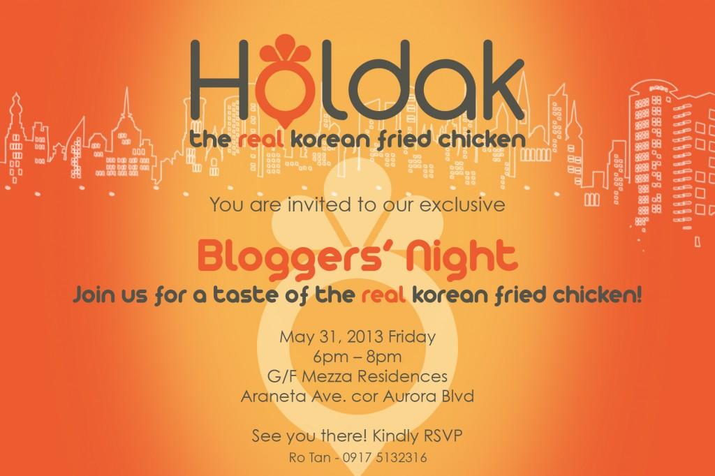 Bloggers Night Invitation