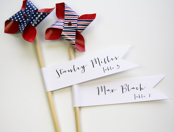 Flag place cards