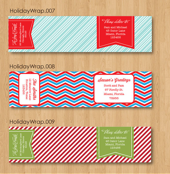 Printable Editable Address Labels Template (Holiday Wraps)