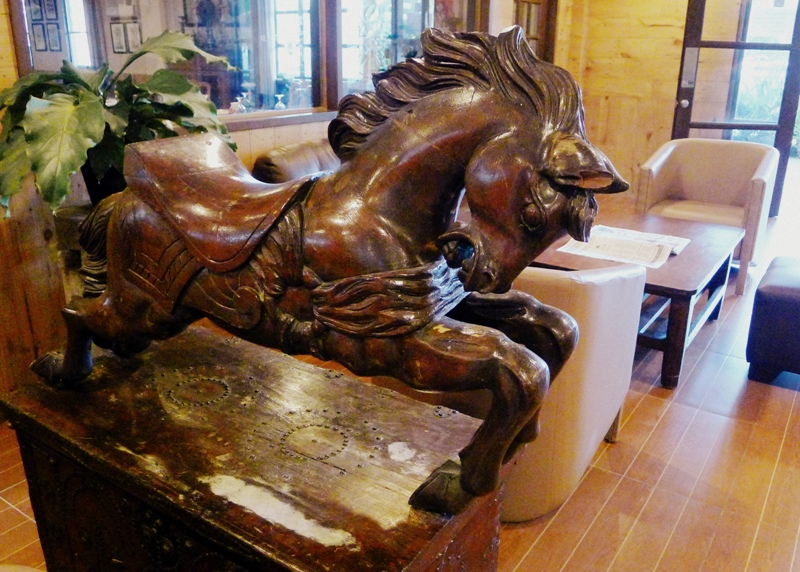 Wooden Horse display at The Ranch in Toledo, Cebu