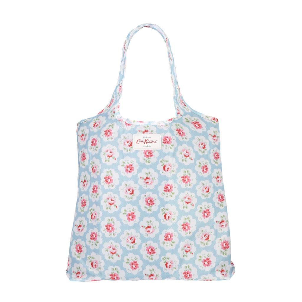 Provence Rose Foldaway Shopping Bag