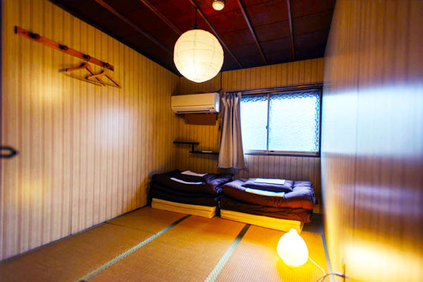 Picture of our private room from Air Osaka Hostel's website.