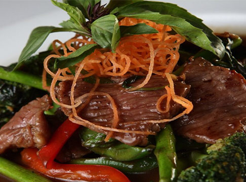 Beef with Chilies and Basil