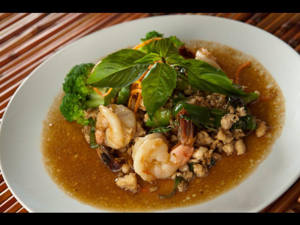 Shrimp and Chicken Basil