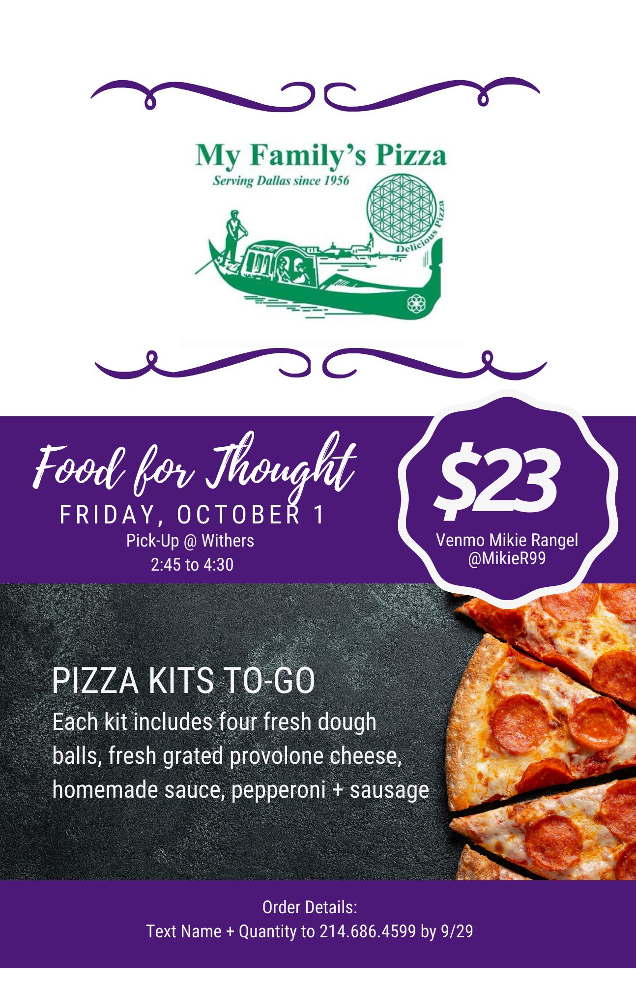 pizza kits to-go