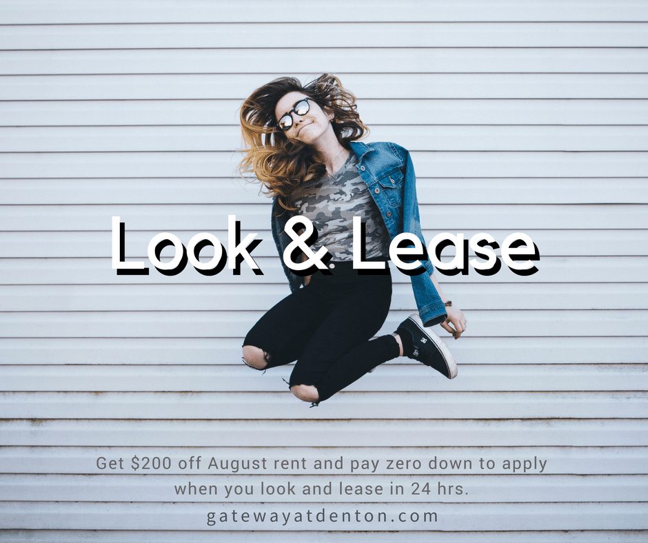 EXPIRED – Spring Look & Lease Special