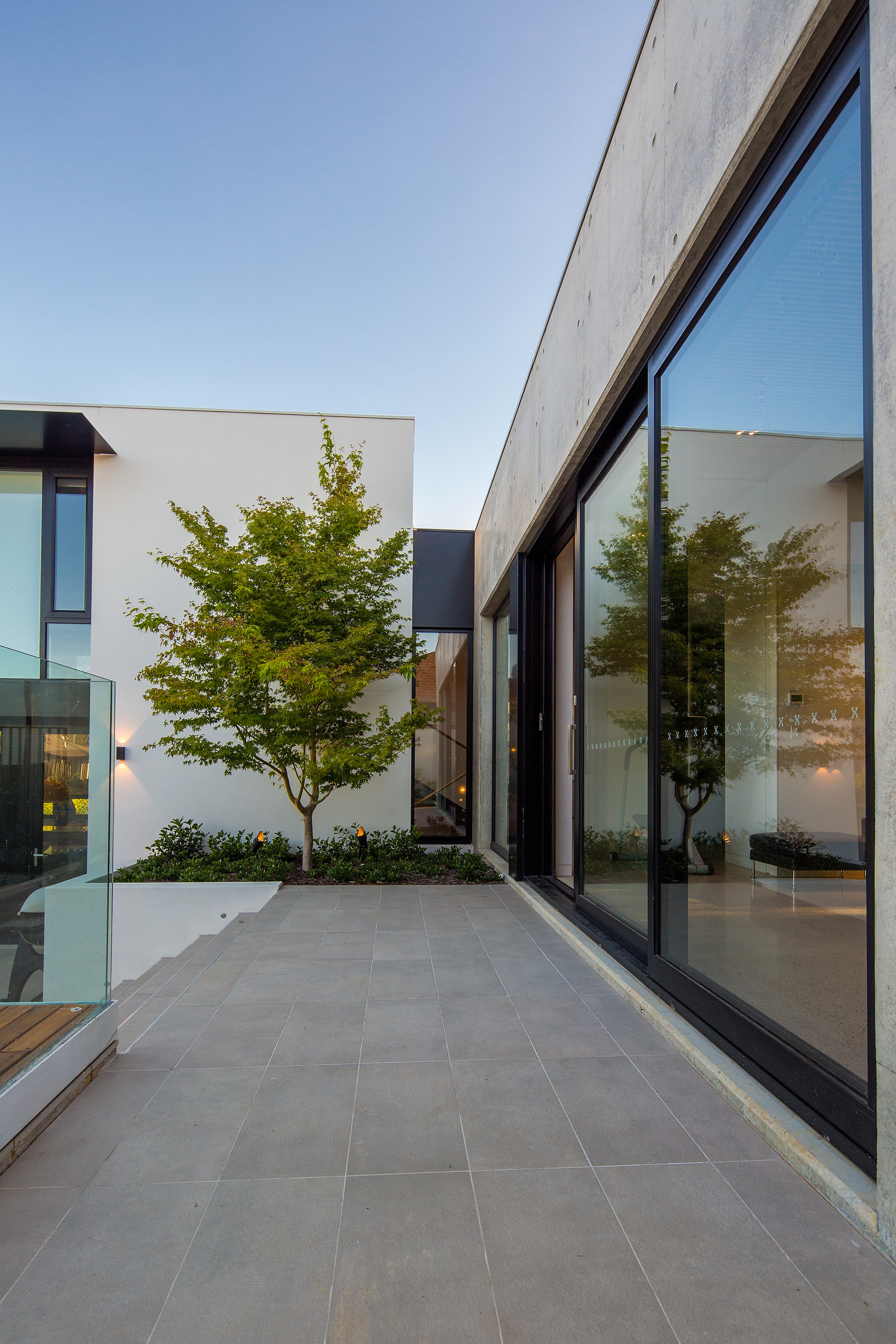 minimal design home with lots of glass