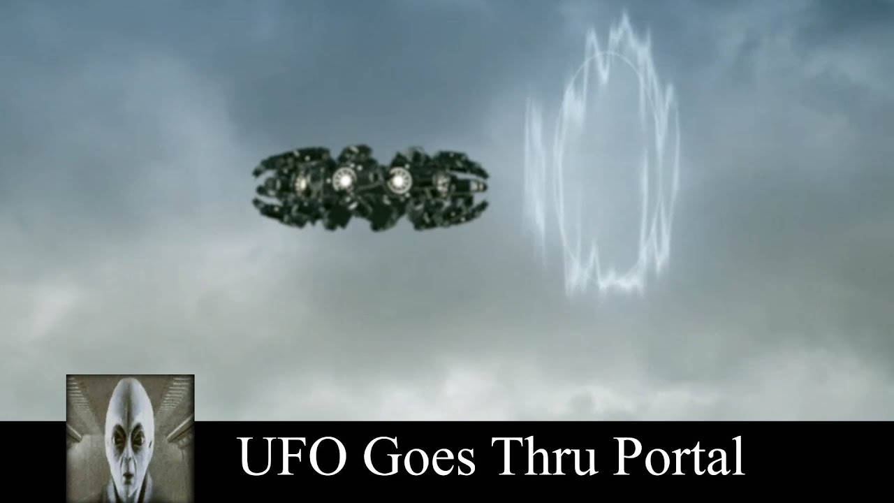 UFO Goes Thru Portal And UFO Sighting At The Airport